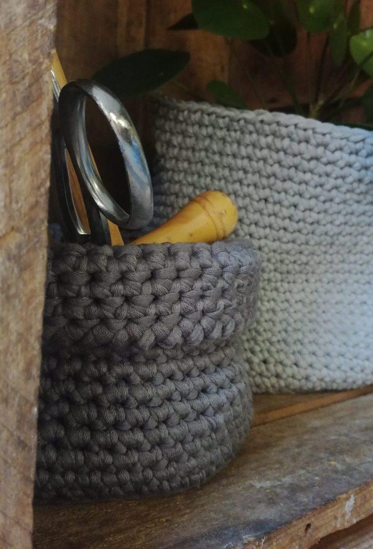 corbeilles crochets