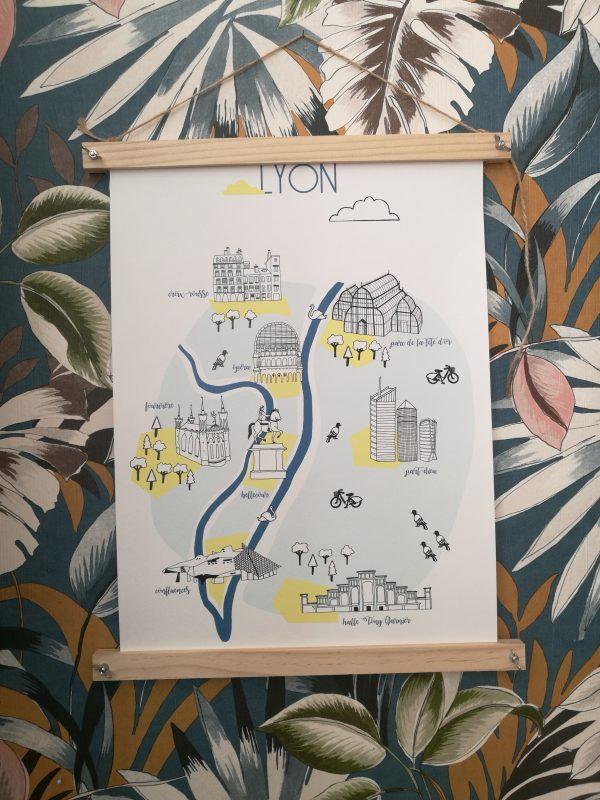 Affiche Lyon Bleue