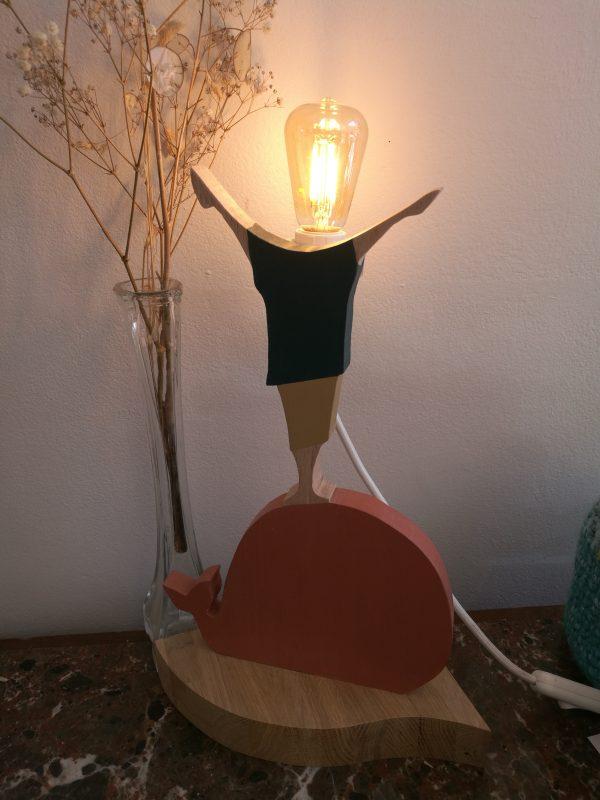 lampe léo allumée