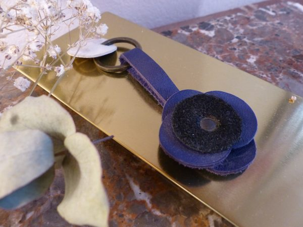 porte-clefs violet