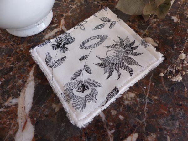 lingette feuilles noires et blanches